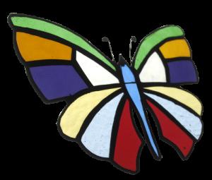 Vlinder | regenboog kristal | notter